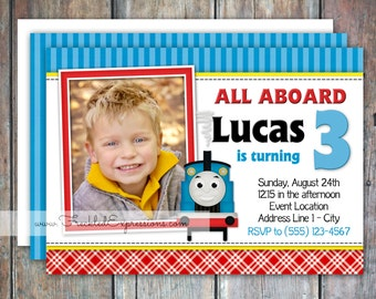 Choo Choo Thomas Birthday Invitation