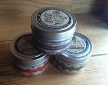 100 Organic Soy Tins 4 oz - Wood Wicks - RETAIL- WEDDING or Event Favors- Vegan / GMO and Pesticide Free