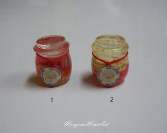 Jars of preserves 1/12 Scale