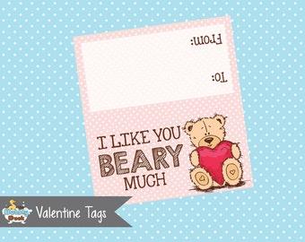 Valentine's Day Bear Bag Topper (Instant Download)