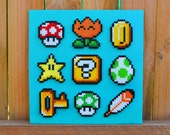 Nintendo Super Mario Perler Bead Wall Art
