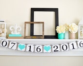 SAVE THE DATE Banner - Photo Prop Sign - Save The Date Sign - Bridal Shower Decor