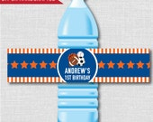 All Star Sports Party Water Bottle Label - Sports Birthday Party - Weatherproof Water Bottle Labels - Digital or Handcrafted - FREE SHIPPING