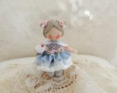 Girl with ice cream cone Waldorf Miniature Doll Figurine