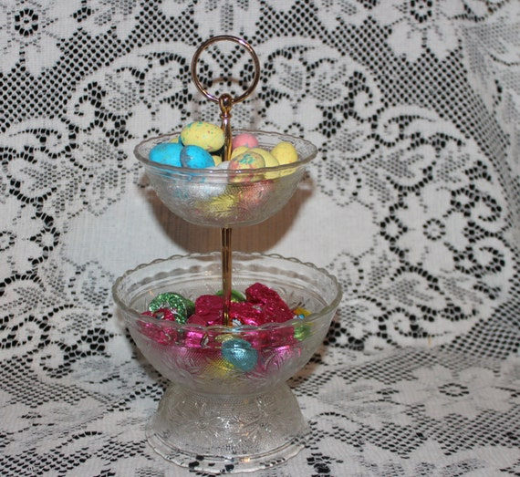 Items similar to tiered open candy dish bar desert