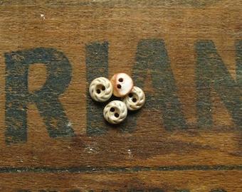 Tiny Swirl Ceramic Button Set