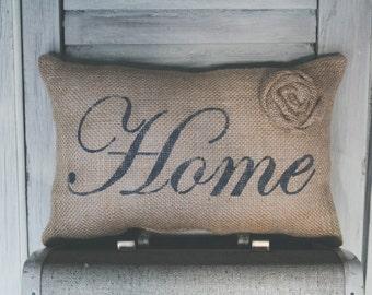 Home Decorative Pillow Decor Pillow Simple Pillow burlap pillow fabric pillow 14x9 accent pillow farmhouse decorcottage decor