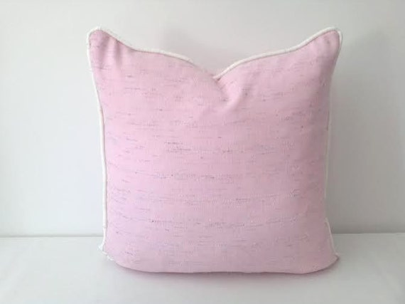 Pink Throw Pillow Cover in Light Tweed Pastel Pink Cushion