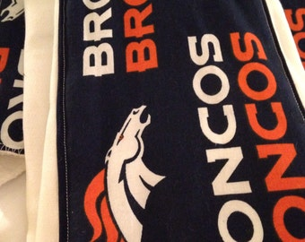 Denver Broncos burp cloth