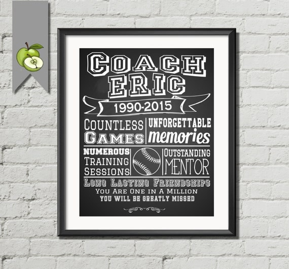 Coach retirement teacher Appreciation gift Girls by ...