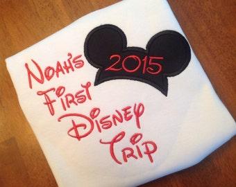 My First Disney Trip-Applique shirt-boy-girl