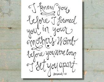 Jeremiah 1:5 Print
