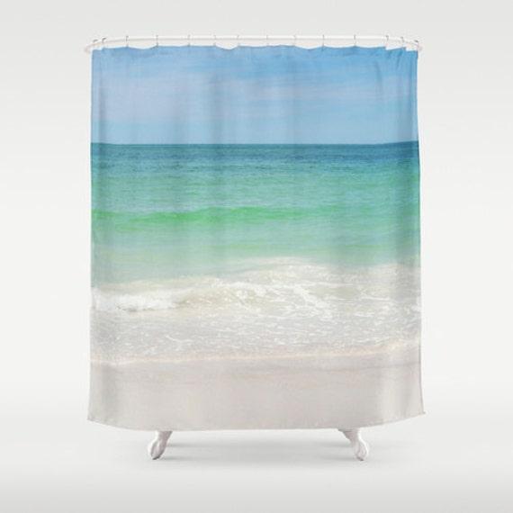 Beach anna maria 2 shower curtain blue green by naturecity - Anna s linens bathroom accessories ...