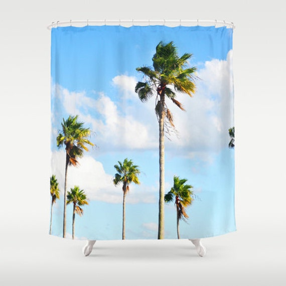 North Beach Palms 2 Shower Curtain Tropical Palm By Naturecity