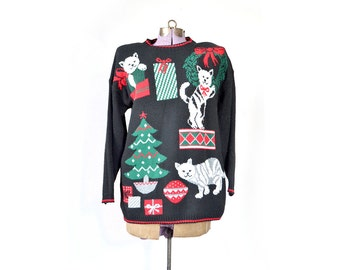 items similar to snowflake sweater ugly christmas sweater plus size christmas sweater. Black Bedroom Furniture Sets. Home Design Ideas
