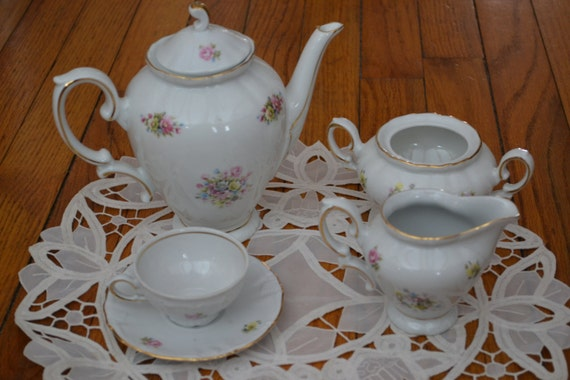Vintage Tea Set Winterling Bavaria China Made In Germany