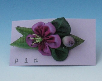 Accessories, Pink Silk Flower Pin, Silk Flower Pins, Fabric Flower Pin