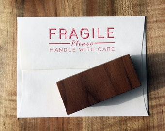Fragile Rubber Stamp, handle with care stamp, shipping stamp, postal stamp, business stamp