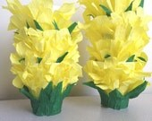 Easter basket May Baskets Party Favors basket treats crepe paper flower petals yellow candy buffet Old-Fashioned wedding choose color