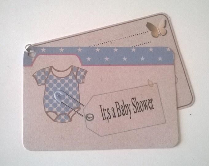 Mini Booklet Baby Shower Invitations, Design - Onesies , PDF