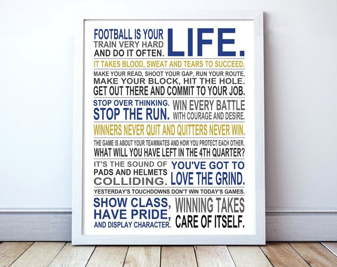 American Football Is Your Life - Custom Manifesto Poster Print