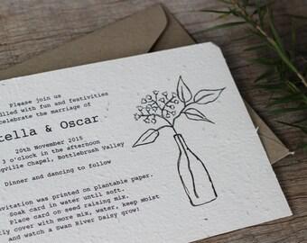 Seeded Wedding Invitation