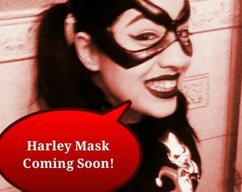 Harley Quinn's Mask Coming Soon.