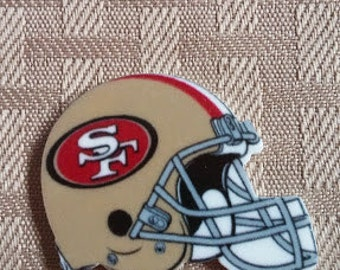 49ERS resin-centers- helmet- bow centers- crafting- applique-