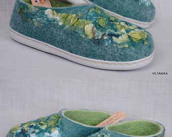 Felted ECO slippers(clogs).