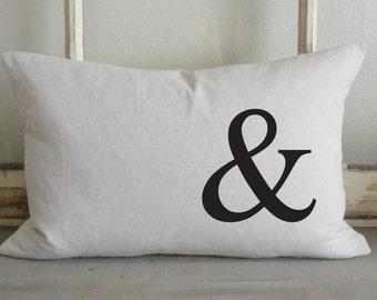 Ampersand 16 x 26 Pillow Cover_&, lumbar, housewarming, home decor, cushion, throw pillow, gift, present.