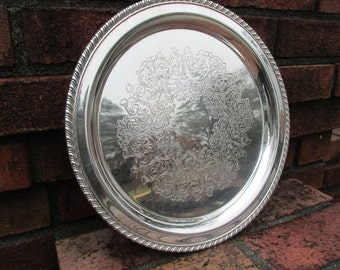 Round Tray - Silver Plate - Oneida