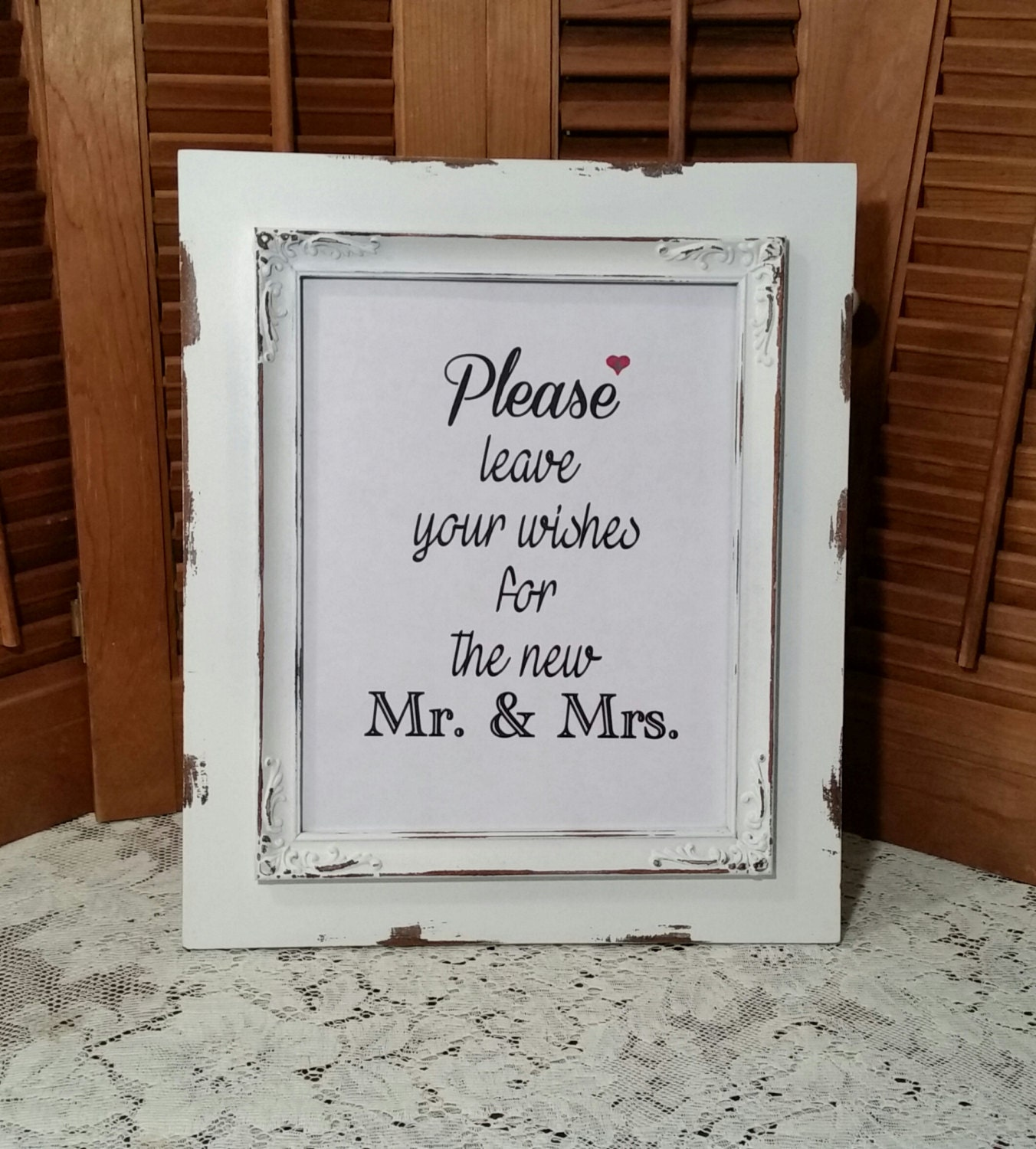 Wedding Advice Wishes Sign