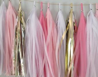 Golden Pink - Handmade Tassel Garland