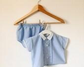 Vintage 1960 Boys Blue Suit
