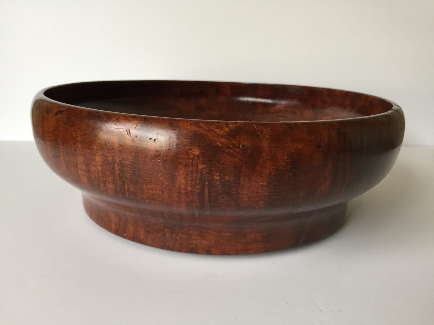 handmade wood bowls vintage handmade wood salad bowl hardwood fruit by 5472