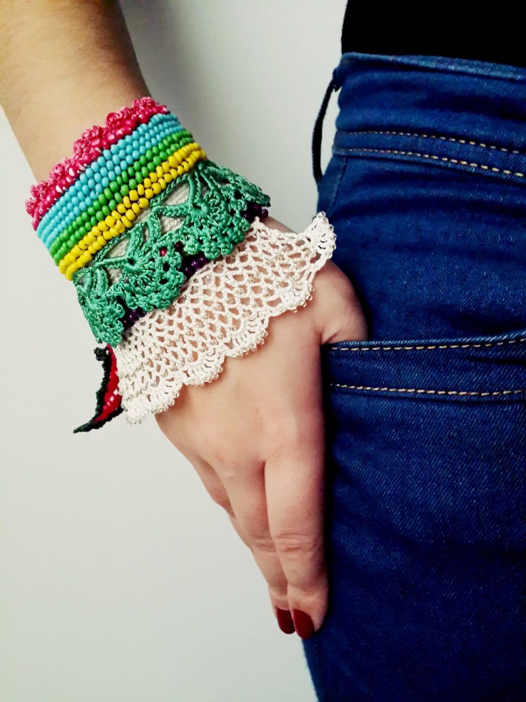 32 Crochet Bracelet Patterns - The Funky Stitch