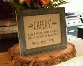 Wedding Bar Sign - Printable PDF