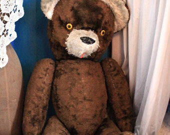 big antique/vintage teddy bear