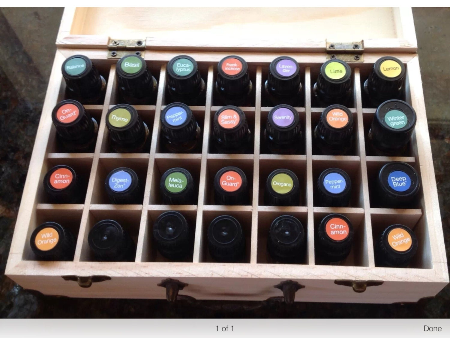 Marvelous photograph of Essential Oil Storage Doterra Case Holder by BuckeyeEssentials with #2D4F9E color and 1500x1125 pixels