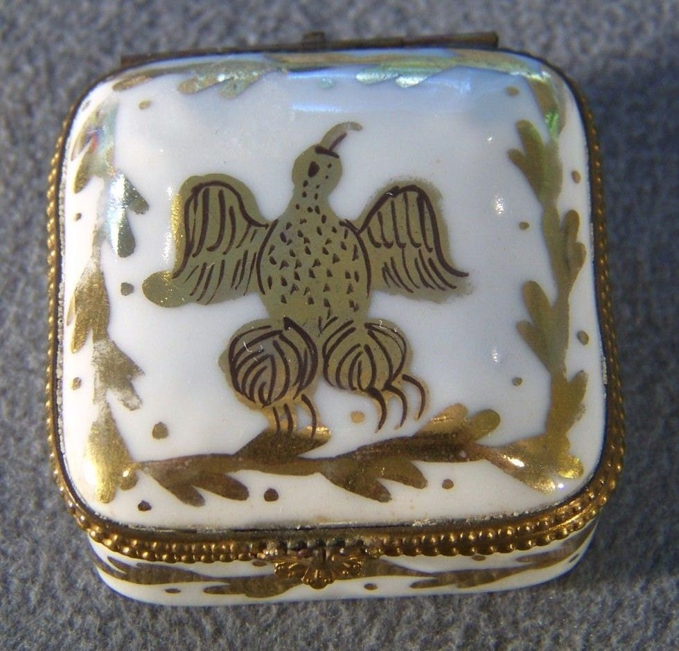 Rectangular Limoges France Porcelain Trinket/Jewelry box ... |Limoges Jewelry