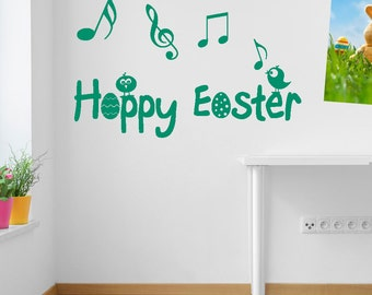 Easter Bird Singing Wall Stickers Kids Nursery Play Room Home Art Decoration Children Decals Removable Handmade Bedrooms Bright VC-A151