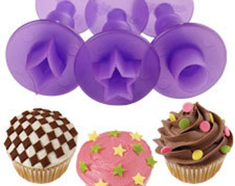 Star Cake Fondant Supplies Shapes Cutter Decor Set, Sugar Crafty Pastry Cake Decor Circle Cutters, Clay Cutters