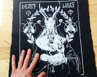 Satanic Goat Nun Black Metal Back Patch