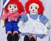 Raggedy Ann and Andy Plush Doll Set - 20 inch