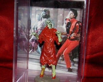 "Michael Jackson(Inspired) ""Thriller""Collectible Red Dress Zombie Dancer Display""Unique"" Ready for shipping!"