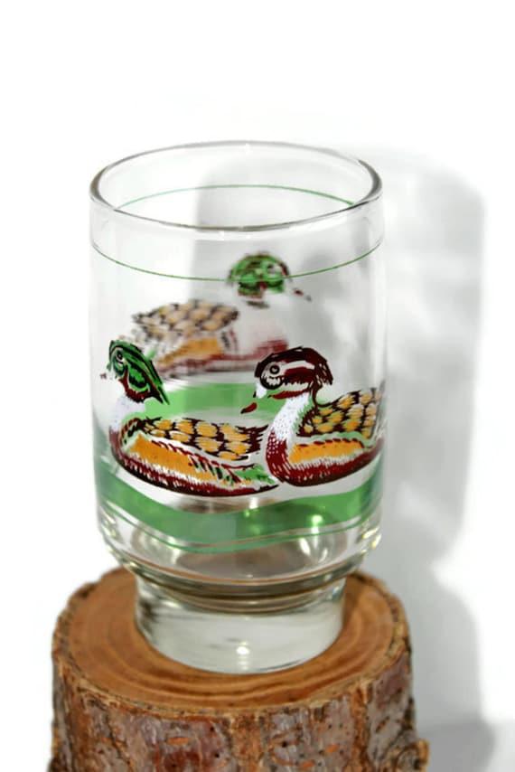 Vintage libbey drinking glasses set of 6 hand painted glasses for Hand painted drinking glasses