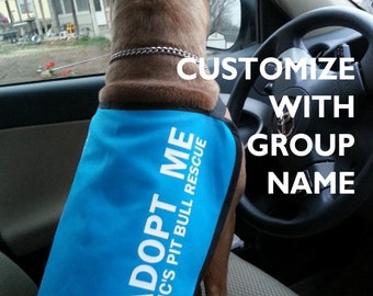 Adopt Me Dog Jacket Vest with GROUP NAME or WEBSITE