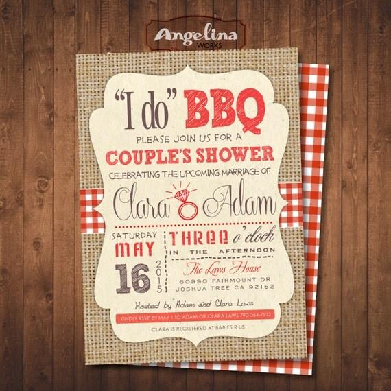 Country I DO BBQ Couples Shower Invitation