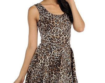 Leopard Sleeveless Mini Dress