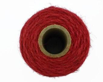 100m Ruby Red Jute Twine on the Spool - Everlasto Jute Craft Twine